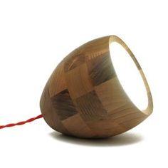 Spotty Medium Walnut Table Lamp