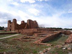 Quarai  Ruins of the mission church at Quarai, including outbuildings and a kiva