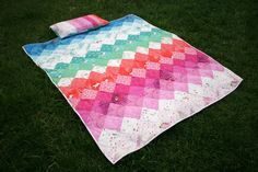 Amelie and Atticus: Wee Wander Rainbow Quilt and Pillowcase
