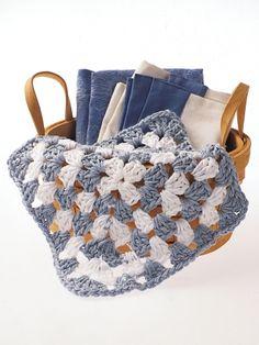 Granny Square Dishcloth | Yarn | Free Knitting Patterns | Crochet Patterns | Yarnspirations