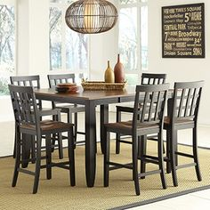 Arlington 9Piece Counterheight Dining Set From Costco $1699 Cool Pub Height Dining Room Sets Design Decoration