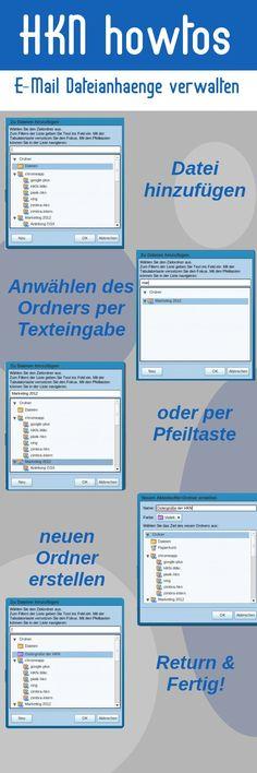 Eine Anleitung wie man E-Maildateianhänge mit Zimbra verwaltet