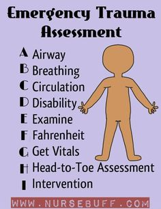 """Emergency Trauma Assessment nursing mnemonics (you know, sometimes i think we take the whole mnemonic thing a bit too far....""""Fahrenheit"""" BEFORE checking vitals? the only reason it says that is because they needed to use the letter F. so redundant.)"""