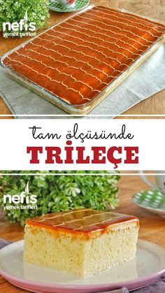Tam l s nde Trile e Tarifi Bu Tarifi Ka rmay n videolu - Nefis Yemek Tarifleri # Yummy Recipes, Fish Recipes, Cookie Recipes, Dessert Recipes, Yummy Food, Trilece Recipe, Cakes Originales, Best Chocolate Chip Muffins, Comfort Food