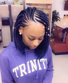 Bandana Hairstyles For Long Hair, Short Box Braids Hairstyles, Lemonade Braids Hairstyles, Braided Hairstyles For Black Women Cornrows, Twist Braid Hairstyles, African Braids Hairstyles, My Hairstyle, Cornrows With Box Braids, Bob Braids