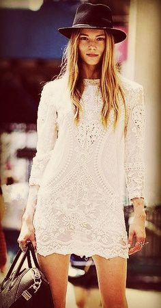Boho Style Embroidered Mesh Lace Tunic Top // XS by ProsperityKid