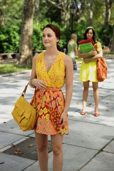 Blair always knew how to mix prints perfectly! Too bad she won't have another season of #GossipGirl to display them on!
