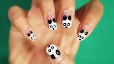 Awh, cute panda! #panda #nails