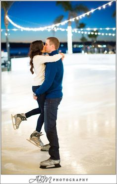 hockey rink engagement photos - Google Search
