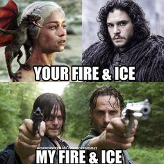 I'm as cold as ice!!! #walkingdead #thewalkingdead #got #gameofthrones