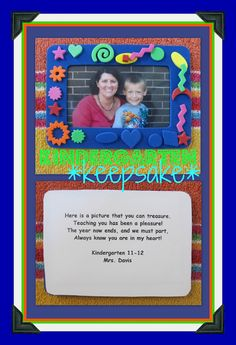 End of the Year Kindergarten Keepsake (via RoundUP of End of Year Poems at RainbowsWithinReach) for the art portfolio we are talking about for the kids Pre K Graduation, Kindergarten Graduation, Kindergarten Classroom, Graduation Ideas, Kindergarten Crafts, Graduation Gifts, End Of School Year, School Fun, Pre School