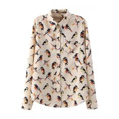 All Over Flying Bird Print Midi Shirt ($17) ❤ liked on Polyvore featuring tops, blouses, bird shirt, bird print top, shirts & blouses, shirts & tops and pink shirt