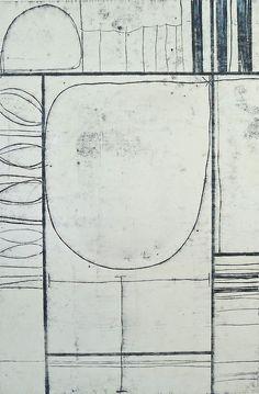 Neighborhood #18, oil transfer drawing, 30x22, Glovaski 2013