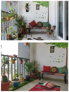 Fabulous Indian Home Decor Ideas - In recent years, ethnic home decor has become increasingly popular when deciding on a theme for decorating. Among the first of the choices in cultural. Home Room Design, Indian Home Decor, Terrace Decor, Home Decor Bedroom, Small Balcony Decor, Indian Room Decor, Home Decor, House Interior Decor, Home Decor Furniture