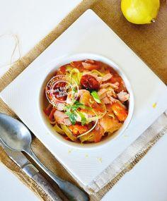 Comment réaliser la recette tagliatelles fraîches au safran faites maison et accompagné de deux saumons pour une recette simple | Kaderick en Kuizinn
