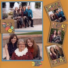Project Ideas for Scrapbook.com Kit Club - Thankful for Family