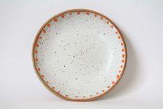 Plate Bowl 20cm / White Shino / Dot - Takeawei