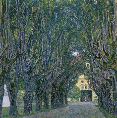Gustav Klimt (Austrian, Art Nouveau, 1862-1918), Avenue of Schloß Kammer Park, c. 1912. Oil on canvas, 110 x 110 cm.