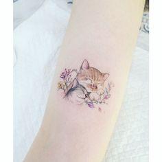 "14.5k Likes, 171 Comments - 타투이스트 바늘 (@tattooist_banul) on Instagram: "": Cats  . . #Tattooistbanul #타투이스트바늘"""
