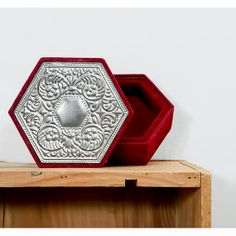 Vintage Red Velvet Box with Art Nouveau Pewter by recyclinghistory, $14.00
