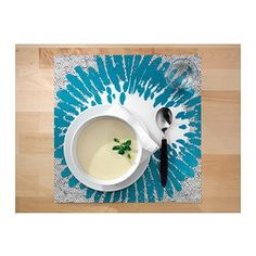 IKEA - PÅBÖRJA, Place mat, Protects the table top surface and reduces noise from plates and flatware.