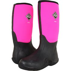 Muck Boot Classic Tack Black &amp Hot Pink | Warm Gifts and Gray