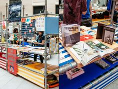 Industrial Bookstore Pop-Ups : Sustainable Retail Display
