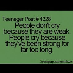 Life Lesson:2 the truth about crying