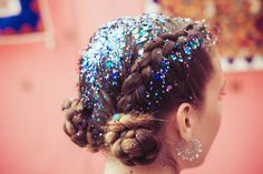 The Gypsy Shrine: Style with colour and sparkles. Shop our iconic Face Jewel and Chunky Glitter Mixes. Brunette Color, Brunette Hair, Glitter Hair Spray, Glitter Roots, Glitter Bomb, Coachella Hair, Crazy Hair Days, Crazy Makeup, Braided Hairstyles