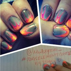 HOW BADASS IS THIS?! flaming nails