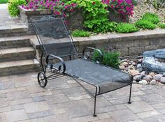 Wrought Iron Lounge Chair $129