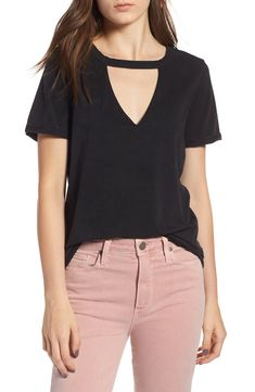 ab093be4a89 Love this cool PAIGE Jesslyn Tee with v-neck cutout! Part of the Nordstrom
