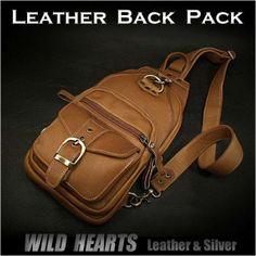 ワンショルダーバッグ ボディバッグ 斜めがけショルダーバッグ レザー 本革 タン リュック Leather Back Pack Shoulder Bag/WILD HEARTS Leather & Silver 【RCP】【楽天市場】