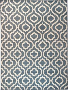 Light Blue Trellis Area Rug