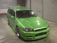 Nissan Stagea 260RS R34 front end conversion.
