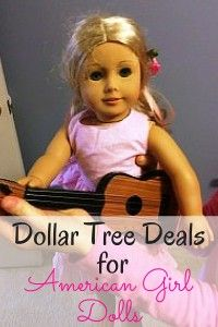 Dollar Tree Deals for American Girl Dolls You may have spent a fortune on the doll, but there's no need to go bankrupt on accessories. Check out these great finds from the Dollar Tree! Cheap American Girl Dolls, American Girl Crochet, American Girl Crafts, American Girls, American Girl Accessories, Doll Accessories, Sewing Dolls, Ag Dolls, American Girl Furniture