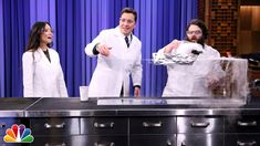 So fun! Jimmy and Lucy Liu perform science experiments with Kevin Delaney, including making a giant cloud in Studio 6B. Subscribe NOW to The Tonight Show Starring Ji...