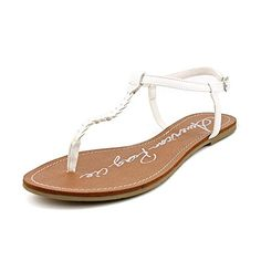 c4e017e886 American Rag Kelli Womens Size 65 White Thongs Sandals Shoes * Check out  this great product