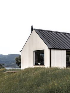 Timber Panelling, Timber Beams, Timber Cladding, Steel Frame Doors, Clad Home, Roof Extension, Built In Bench, Coastal Homes, Interior Architecture