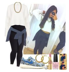 """""""#449"""" by babygyal09 ❤ liked on Polyvore featuring moda, Topshop, NIKE, NLY Accessories, OPI, Yves Saint Laurent e plus size clothing"""