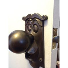 """Bronze Alice in Wonderland real working doorknob.  Dammit!! Sold out!!!!  """"One good turn deserves another!""""  I want this so badly...perfect for a door to a library, or a tiny powder room, or a narrow staircase, right? Craftsmanship AND a sense of humor. Love it."""