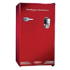 Nostalgia Electrics Retro Series 3.0-Cubic Foot Compact Refrigerator with Dispenser, Red