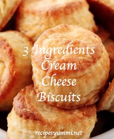 Honey Cream Cheese Biscuits with fluffy, flaky layers. Cream Cheese Biscuits, Buttermilk Biscuits, Tea Biscuits, Homemade Biscuits, Chef Recipes, Cookie Recipes, Bread Recipes, Pillsbury Biscuit Recipes, Savoury Recipes