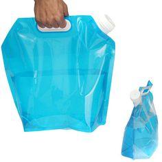 5L Saco De Água De Acampamento Caminhadas Dobrar o saco de Água Portátil De Armazenamento de Elevação de Transporte Saco de Sobrevivência Ao Ar Livre Camping Acessórios EUA # V