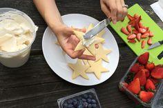 A cute little idea to dresws up sugar cookies!  How to make Berry Star Cookies via @kingarthurflour