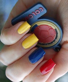 Colombian Colors Nail Design Google Search