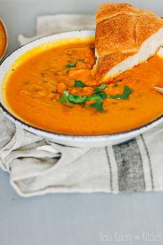 wortelsoep met linzen # zoete aardappel # soep # wortel