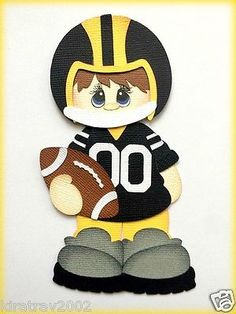 STEELERS-PLAYER-FOOTBALL-PAPER-PIECING-PREMADE-MY-TEAR-BEARS-KIRA 730d810fa0183