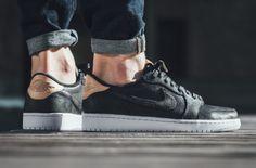 The Air Jordan 1 Low OG Premium Black Is Releasing Soon