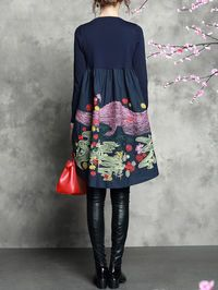 Red Floral Sleeveless A-line Floral-print Swing Sleeveless Midi Dress